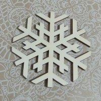 Деревянная фигурка Снежинка 3, 10х10 см