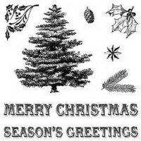 """Штампы """"Classic Christmas"""" с набором украшений"""
