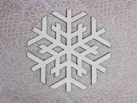 Деревянная фигурка Снежинка 3, 14х14 см
