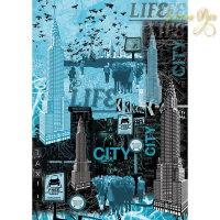 Декупажная карта классическая, Stamperia, 50x70 - Нью-Йорк