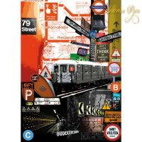 Декупажная карта классическая, Stamperia, 50x70 - Метро