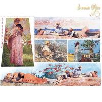 Рисовая Декупажная карта, Stamperia, 48x33 Акварель - дети