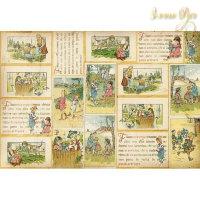 Рисовая декупажная карта, Stamperia, 48x33 Victorian Tales
