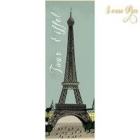 Рисовая Декупажная карта, Stamperia, 24 x60 Эйфелева башня