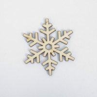 Деревянная миниатюра Снежинка 9, 13х13 см