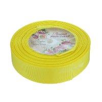 Лента-репс жёлтая 2,5 см (1 метр)